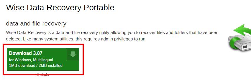 USBメモリにファイル復元ソフトをインストールして持ち運ぶ方法1