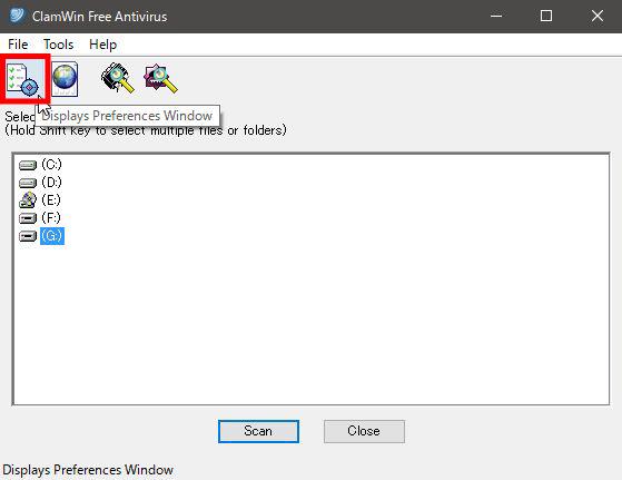 ClamWin Portableの初期設定を行いUSBメモリを保護する方法5
