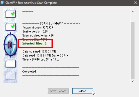 ClamWin Portableの初期設定を行いUSBメモリを保護する方法8
